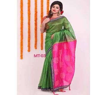 Indian Skin Print Emboidery Saree