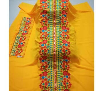 Unstiitched Georgette Embroidery Single Kamiz Kurti