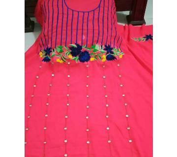 Unstitched Georgette & Embroidery Single Piece Kurti