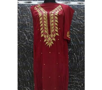 Unstitched Georgette & Embroidery Single kamij Kurti