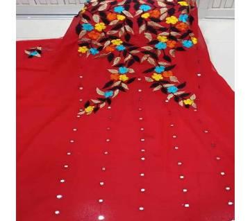 Unstitched Georgette & Embroidery Single Kamiz Kurti
