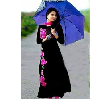 আনস্টিচড রেপ্লিকা ব্লক প্রিন্টেড কটন থ্রি-পিস