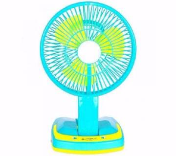 Rechargeable Folding table fan with light