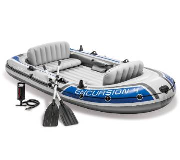 Intex Excursion 4 Inflatable Boat Set 4-Person