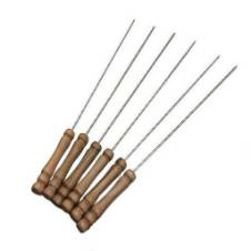 BBQ stick with wooden handle