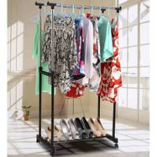 Double Layer Cloth hanging Stand
