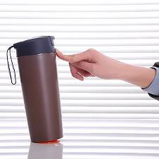 Magic cup mighty mug thermal push suction mug with leak-proof lid