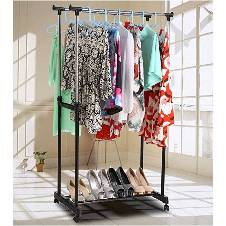 Two Layer Clothes Hanging Stand