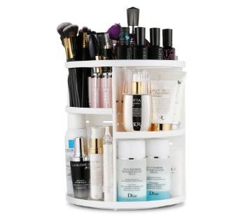 Multi-Function 360 Degree Rotation Makeup Organizer Adjustable Cosmetic Storage Box