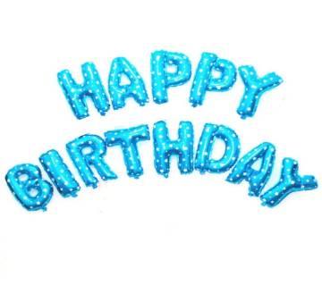Happy Birthday ফয়েল বেলুন সেট - ব্লু