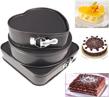 Non-stick 3 Sets Cake Bake Mould / Pans Baking Tools (Ovenproof)