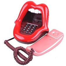 Red Lips Mouth Shape Telephone Set