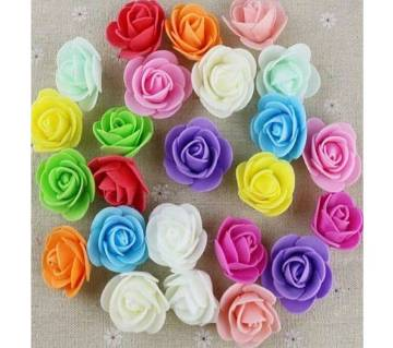 Multicolor PE Foam Rose Head Artificial Flower - 20 pieces pack