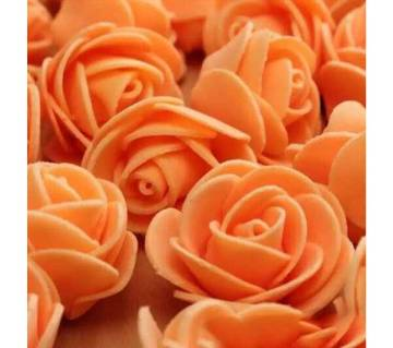 Orange PE Foam Rose Head Artificial Flower - 20 pieces pack