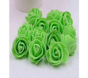Green PE Foam Rose Head Artificial Flower - 20 pieces pack