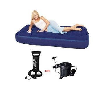 AIR INFLATABLE SINGLE BED SEMI DOUBLE WITH ELECTRIC PUMPER