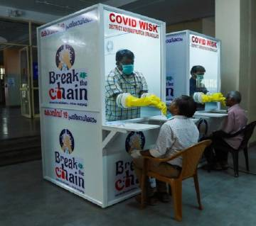 Coronavirus (Covid 19) Testing or Sample Collection Canopy Booth or Kiosk.