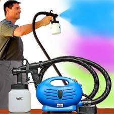 Paint Zoom Professional Electric Paint Sprayer - Blue and Black