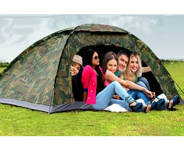 Camo Army Waterproof 5 Person Tent
