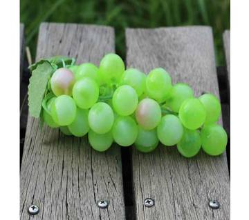 Artificial Plastic Fruit Grapes Cluster Home Office Decoration Green