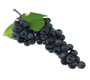 Artificial Plastic Fruit Grapes Cluster Home Office Decoration Black