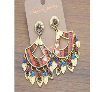 Stone Setting Colourful Earrings