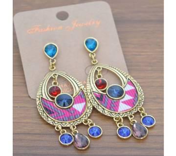 Stone Setting Colourful Earrings