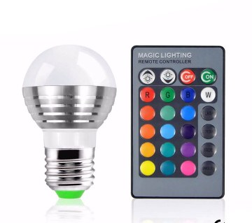 Remote LED RGB Bulb Light