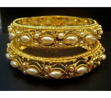 Gold Plated Bangles (One Pair)