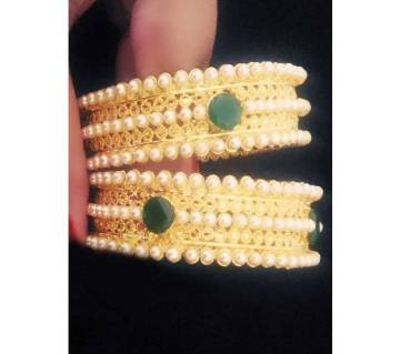 Gold plated bangles(2 pc)