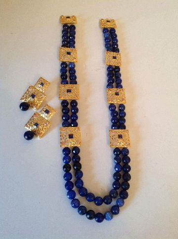 Bids Setting Gold Plated Necklace Set
