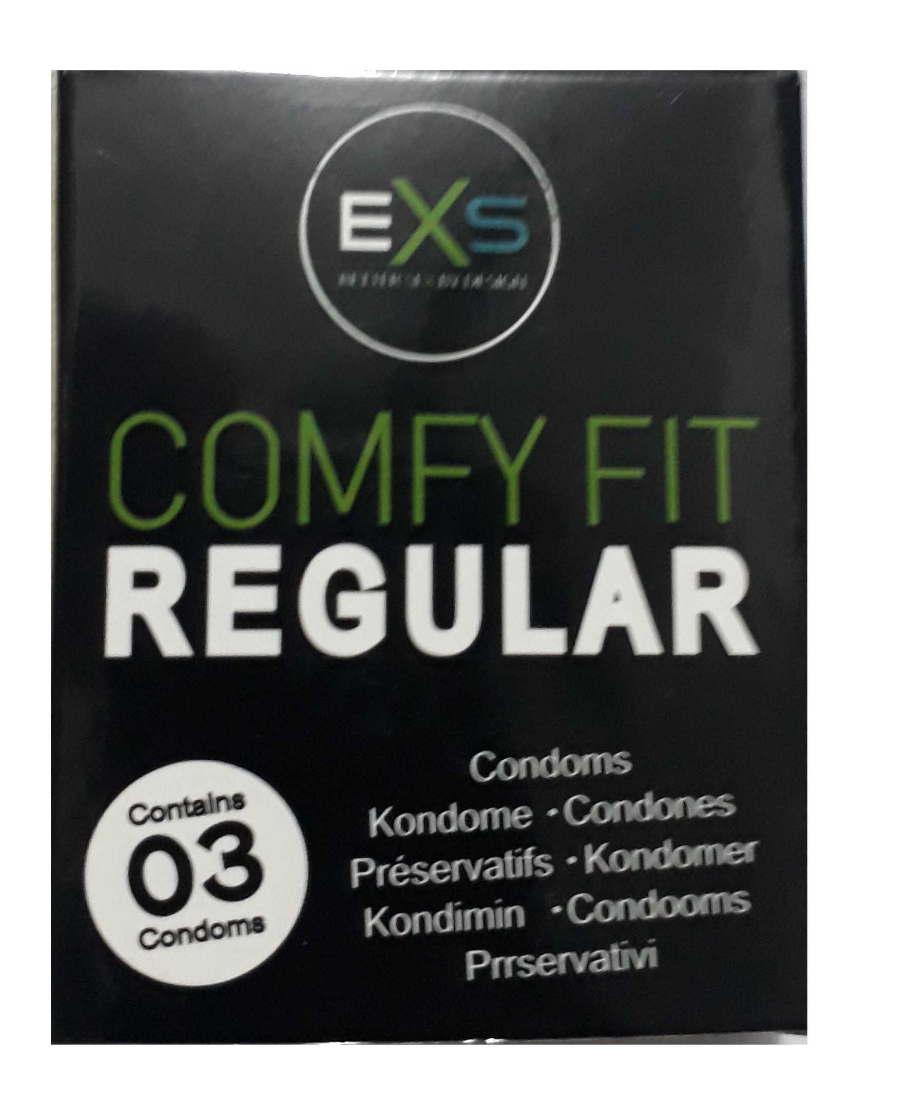 R1 Exs Regular Comfy Fit Condoms 3 Pcs
