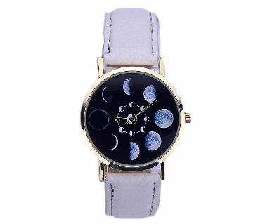 Eclipse Pattern PU লেদার ওয়াচ ফর মেন
