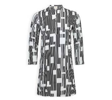 cotton long panjabi for men 04-striped