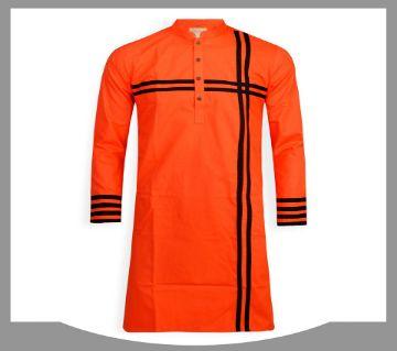 cotton long panjabi for men 05-orange