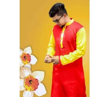 কটন সেমি লং পাঞ্জাবী ফর মেন