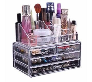 Cosmetic Organizer Box - Silver