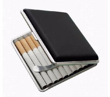 Slim Leather Mix Metal Cigarette Pack