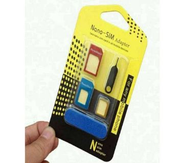 5 in 1 metal sim card adapter