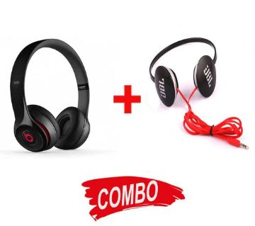 Beats Solo HD Wired Headphones (Copy) + JBL Wired Headphones Combo Offer