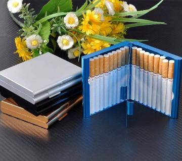 Aluminum card holders and cigarette boxes