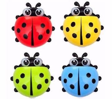 Ladybug শেপড টুথব্রাশ হোল্ডার