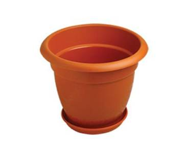 71504 - Planter Dhalia with Tray - 14inch- Terracotta color
