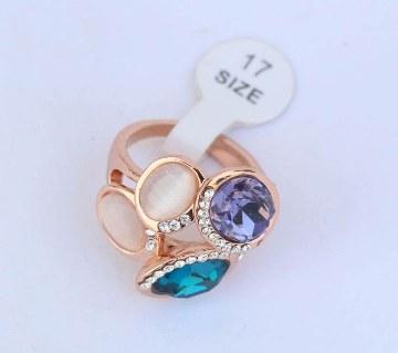 Multicolor stone setting finger ring