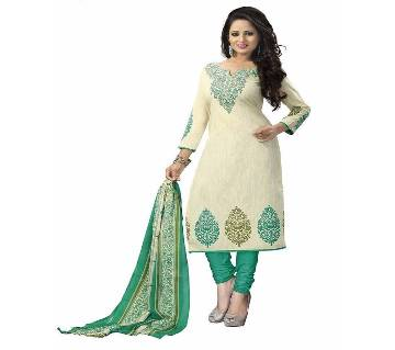 Unstitched block printed Salwar Kameez - Copy