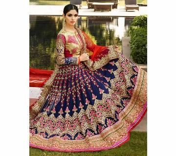 Un-stitched Heavy Embroidered Wedding Wear Lehenga Choli