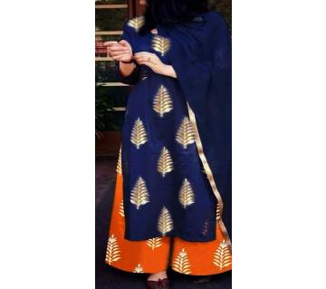 Un-stitched block printed cotton salwar kameez seblock-490