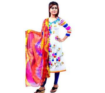 Unstitched Cotton Block Printed Salwar Kameez seblock-306