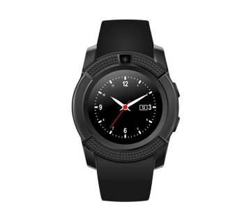 V8 Smart Watch Sim Supported - Black