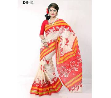cotton kota handprint saree ds-41